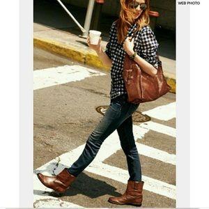 FRYE Anna Shortie Boots Cognac 5.5 Ankle boots